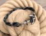 KEY WEST Anchor Bracelet - Carbon Fibre - Men M/L