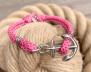 KEY WEST Anchor Bracelet - Summer Rose - S/M