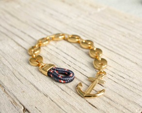 MARSTRAND Anchor bracelet - Gold - 15.5 cm/6.1