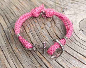 KEY WEST Anchor Bracelet - Summer Rose - Women S/L