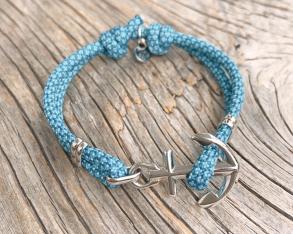 KEY WEST Anchor Bracelet - Summer Sea - S/M