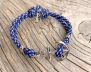 KEY WEST Anchor Bracelet - Blue Yacht - Herr M/L