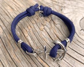 KEY WEST Anchor Bracelet - Navyblue - S/M