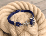 KEY WEST Anchor Bracelet - Navyblue - Herr M/L