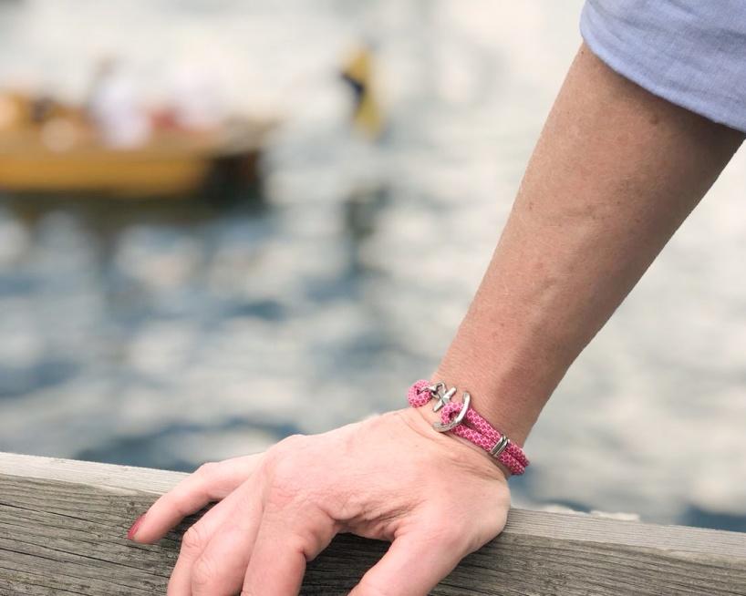 Waterproof anchor bracelet from Maris Sal Nautical