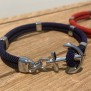 NEW HAVEN Ankararmband - Silver - Marinblå, custom size, leave wrist size at checkout
