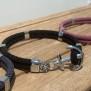 NEW HAVEN Ankararmband - Silver - Svart, custom size, leave wrist size at checkout