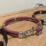NEW HAVEN Ankararmband - Silver - Ljungrosa, custom size, leave wrist size at checkout