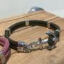 NEW HAVEN Ankararmband - Silver - Mossgrön, custom size, leave wrist size at checkout