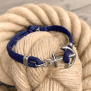 KEY WEST Anchor Bracelet - Navyblue - M/L