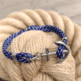 KEY WEST Anchor Bracelet - Blue Yacht - M/L