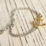 VINGA Anchor bracelet, silver & gold