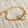 VINGA Anchor bracelet - Gold - Gold steel, one size