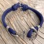 KEY WEST Anchor Bracelet - Navyblue - M/L