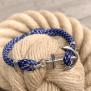 KEY WEST Anchor Bracelet - Blue Yacht - S/M