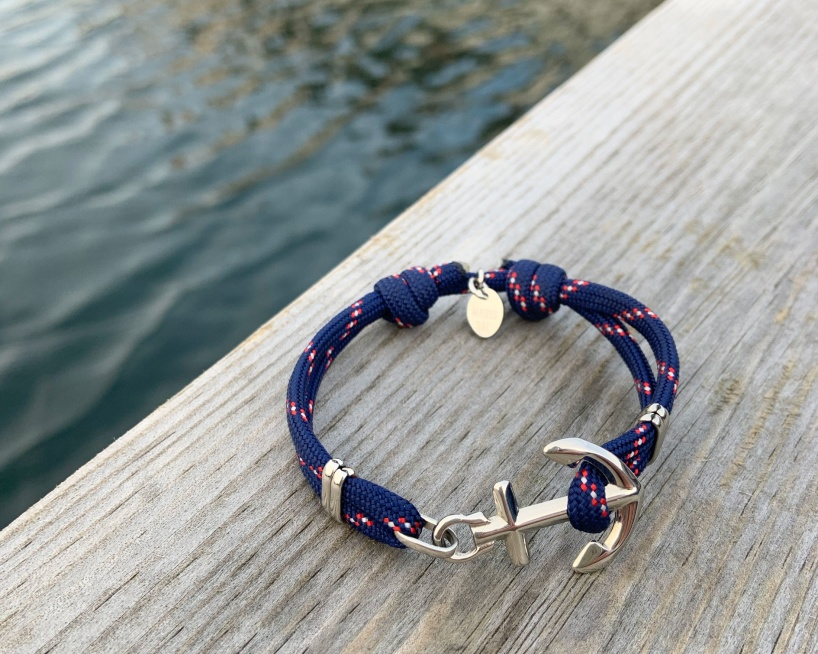 Waterproof anchor bracelet from Maris Sal Nautical