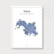 Karta över Hönö - Blå