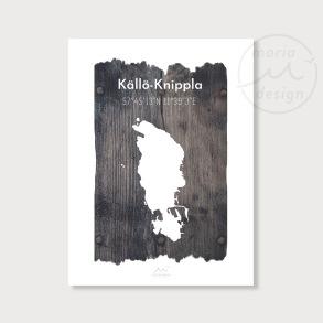 Karta över Källö-Knippla - Vrakved - Karta över Källö-Knippla- vrakved, A5