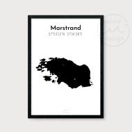 Karta över Marstrand - Svart