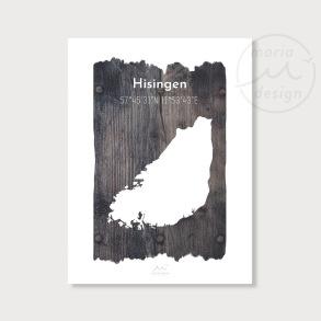 Karta över Hisingen - Vrakved - Karta över Hisingen - vrakved, A5