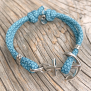 KEY WEST Ankararmband - Summer Sea, turkos - S/M