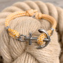 KEY WEST Ankararmband - Summer Sun, gul - S/M