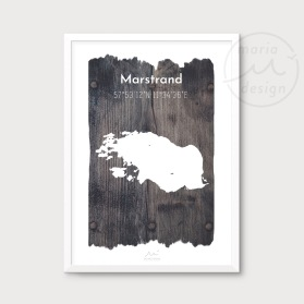 Karta över Marstrand - Vrakved