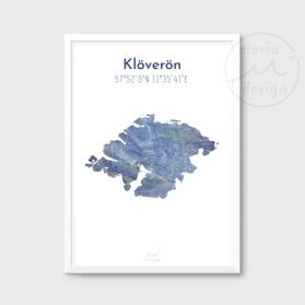 Karta över Klöverön - Blå