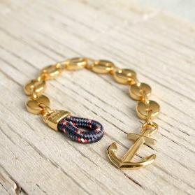MARSTRAND Anchor bracelet - Gold