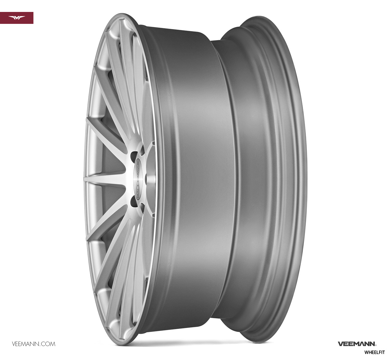 VEEMANN VC7 FULL MATT SILVER MACHINED SIDE PROFILE STANDARD