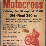 Affisch motcross - Skillingaryd 18 September