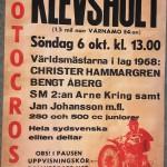 Affisch motcross - Klevshult 6 oktober