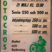 Affisch motcross - Skillingaryd 21 maj