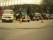 Vår MB-buss i gott sällskap med några små lastbilar