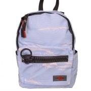 Spräcklig ljusblå liten väska