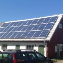 Montering solceller Sjöbol Falkenberg