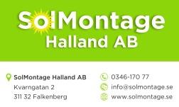 SolMontage Halland AB - Certifierad installatör och montör av solcellsanläggningar i Halland och hela västra Sverige.