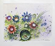 Stig Erinder 70x55 Akvarell orginal