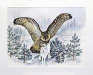 Stig Erinder 70x55 Akvarell original