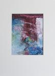 Milan Vobruba Abstrakt blå-vinröd 30 x 40 glaskonst