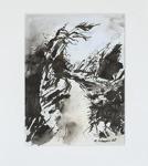 Milan Vobruba Fjord 30 x 40 akvarell