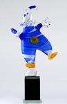 Blå gubbe Höjd: 34 cm Glasskulptur