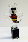 Trollslända Höjd: 27 cm Glasskulptur