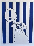 Blå hund 40x50