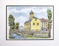 Leo Dobrowsky 40x30 Akvarell orginal