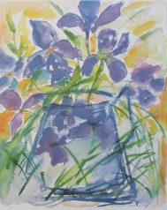 Lena Linderholm, Iris 50 x 70 / Blad