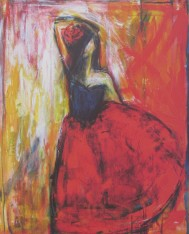 Emilia Linderholm, Lets Tango   50 x 70 / Blad