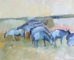 Antiloper 50 x 40 olja på duk