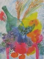 Lena Linderholm,Champangefrukost 50 x 70 / Blad