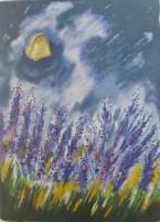 Gösta Linderholm, Lavendel  50 x 70 / Blad